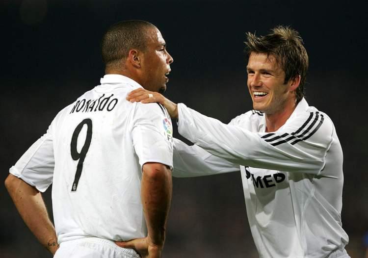 Ronaldo e David Beckham