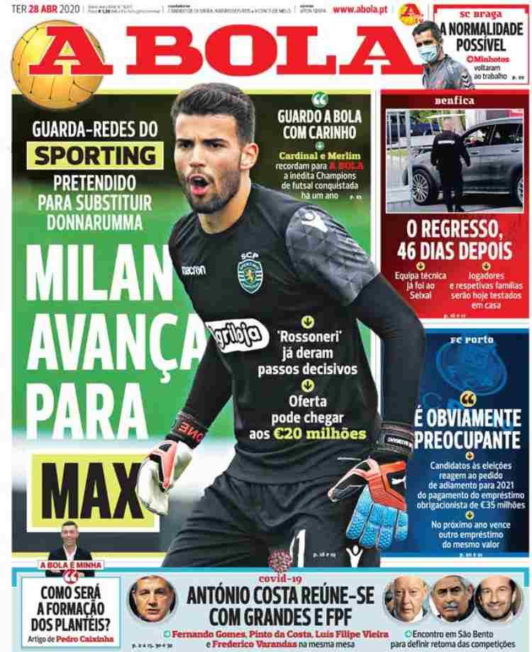 A Bola dà il Milan su Luis Maximiano