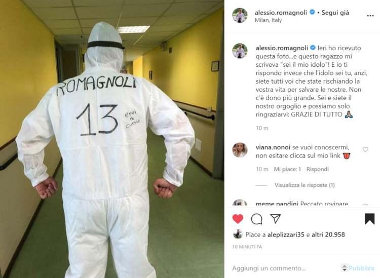 Romagnoli su Instagram