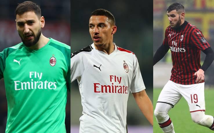 Theo Hernandez Bennacer restano al Milan