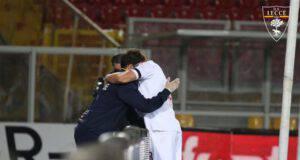 Rebic abbraccio Lecce