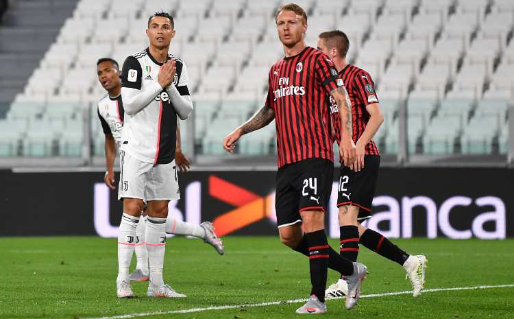 Kjaer Cristiano Ronaldo Juve Milan