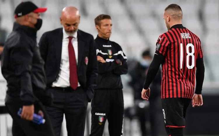 Rebic espulso Juve Milan