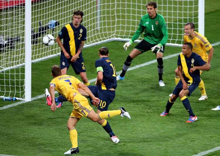 Shevchenko Ibrahimovic Ucraina Svezia