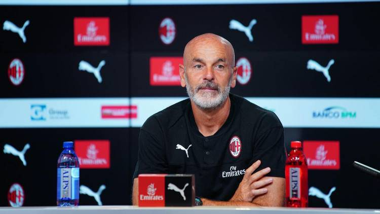 Stefano Pioli conferenza Milan Parma