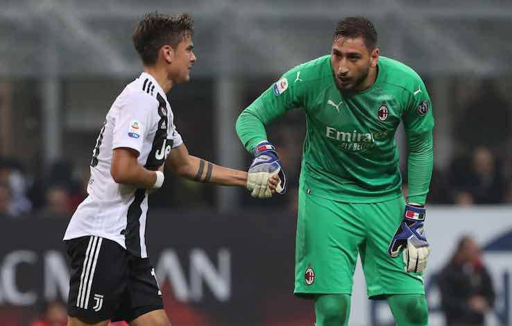 Dybala Donnarumma retroscena