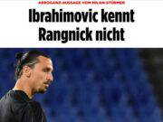 Ibrahimovic arrogante attacco Bild