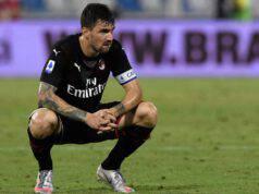 Alessio Romagnoli diffidato Milan Juventus