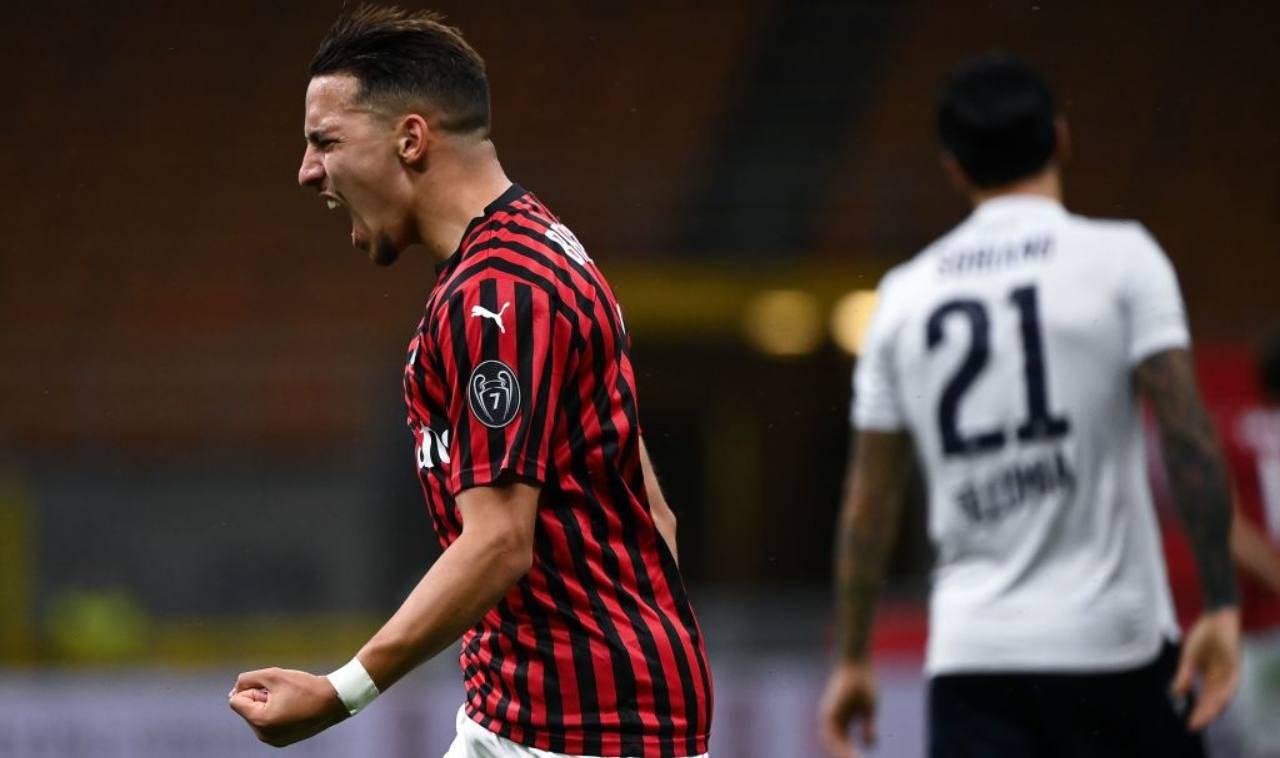 Ismael Bennacer gol Milan Bologna