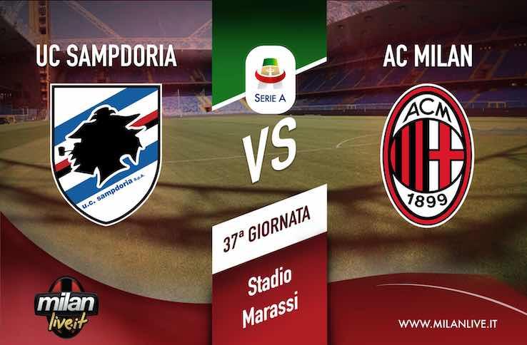 Sampdoria Milan risultato in tempo reale