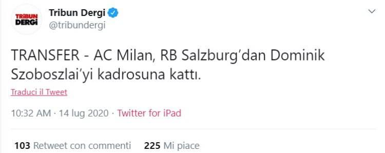 Szoboszlai al Milan