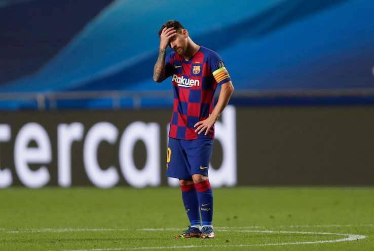 Messi addio Barcellona