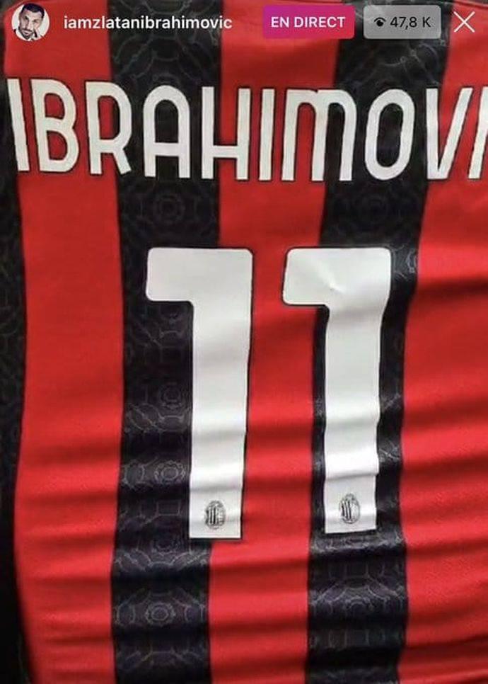 Numero maglia Zlatan Ibrahimovic