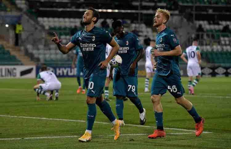 gol e highlights Shamrock-Milan