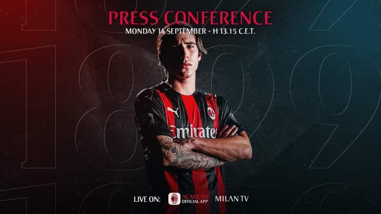 Sandro Tonali conferenza stampa presentazione