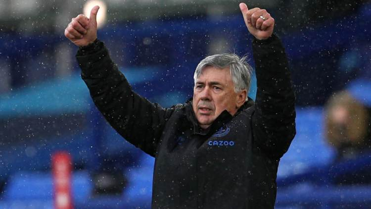 Carlo Ancelotti Everton capolista