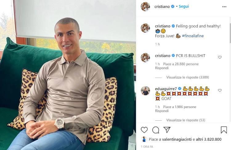Cristiano Ronaldo covid 19