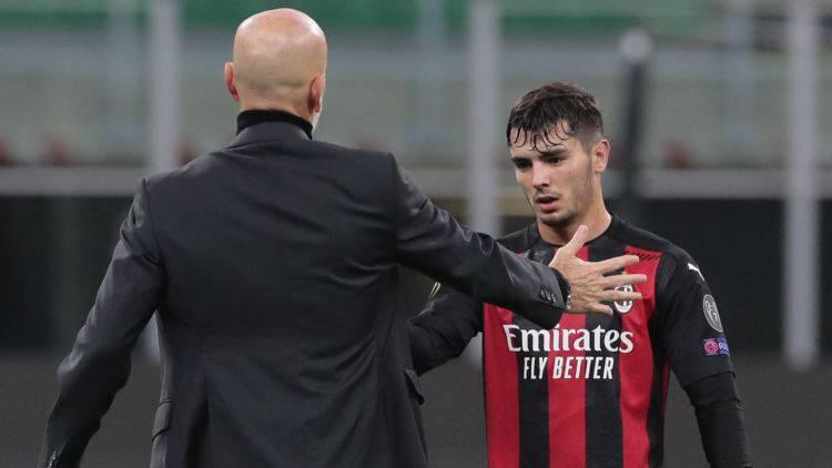 Brahim Diaz Milan pressing Real