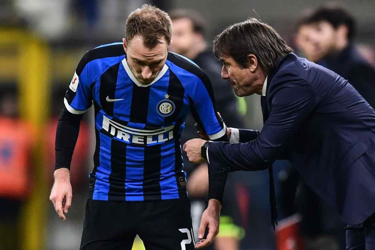 Conte umilia Eriksen: il Milan potrebbe regalargli la grande rivincita