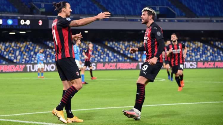 Ibrahimovic Theo Hernandez Napoli Milan