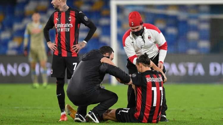 Infortunio Ibrahimovic durante Napoli-Milan: le news