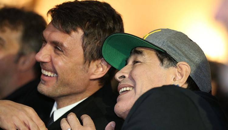 Maldini Shevchenko Inzaghi messaggi Maradona
