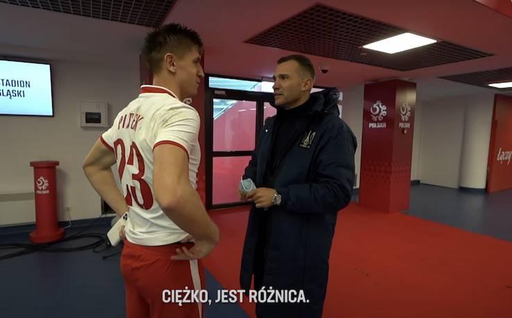 Piatek Shevchenko video incontro