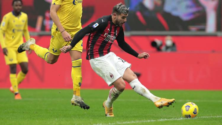 Theo Hernandez pagelle Milan Verona