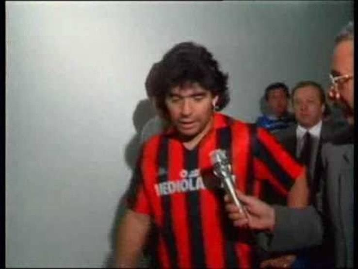 Maradona maglia Milan