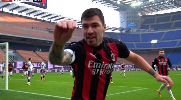 Esultanza polemica Alessio Romagnoli Milan-Fiorentina