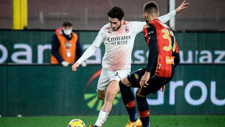 Davide Calabria gol Genoa Milan