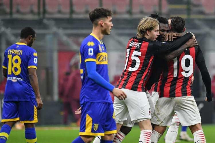 Milan Parma rimonta