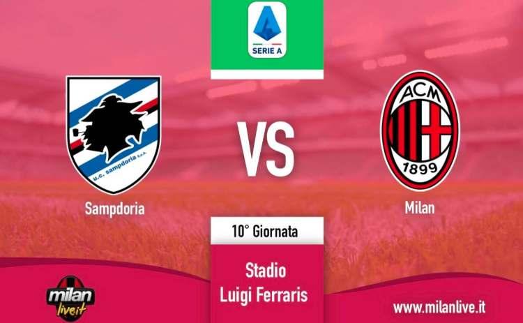 Sampdoria Milan diretta live tempo reale