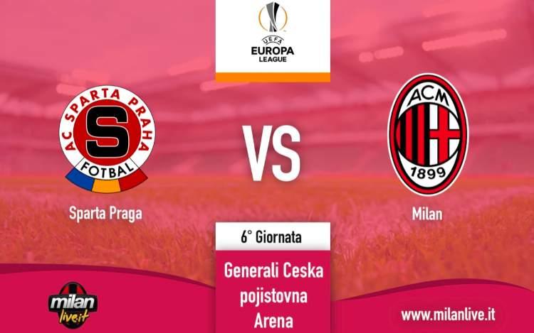 Sparta Praga Milan diretta live tempo reale