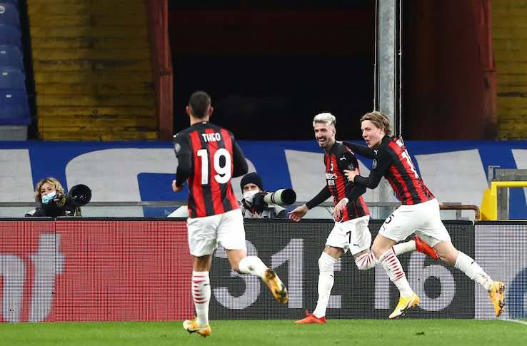 Sampdoria Milan pagelle