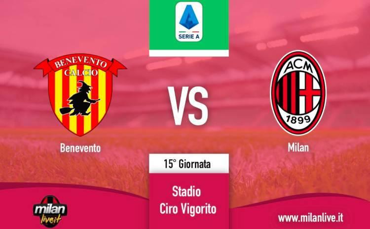 Benevento Milan Live Diretta risultato