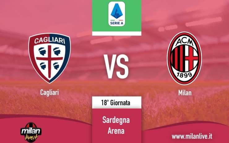 Cagliari Milan Live Diretta tempo reale