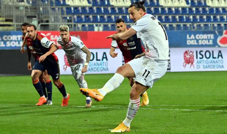 Moviola Cagliari Milan rigore Ibrahimovic Sottil