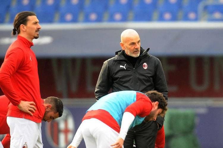 Stefano Pioli post Bologna-Milan