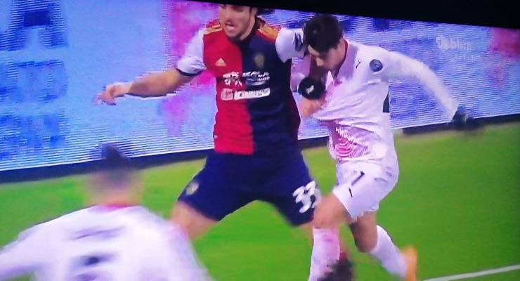 Penalty Sottil Brahim Diaz Cagliari Milan
