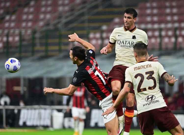 Ibanez salta Roma Milan
