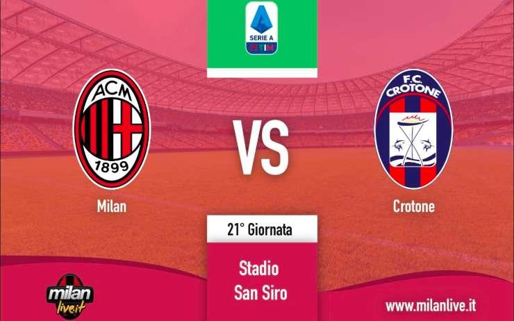 Milan Crotone Live diretta