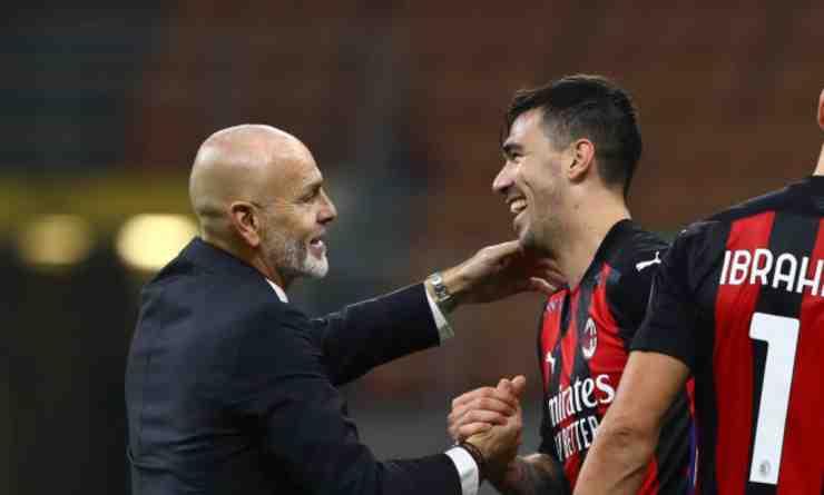 Stefano Pioli e Alessio Romagnoli (1)