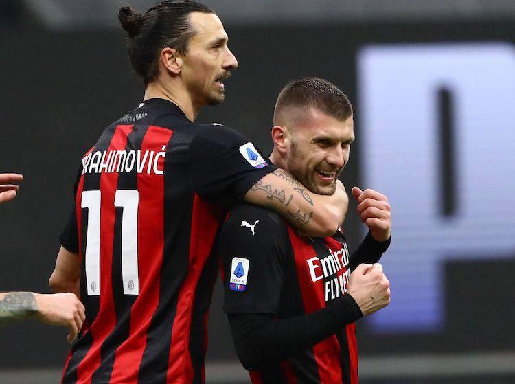 Ante Rebic e Zlatan Ibrahimovic
