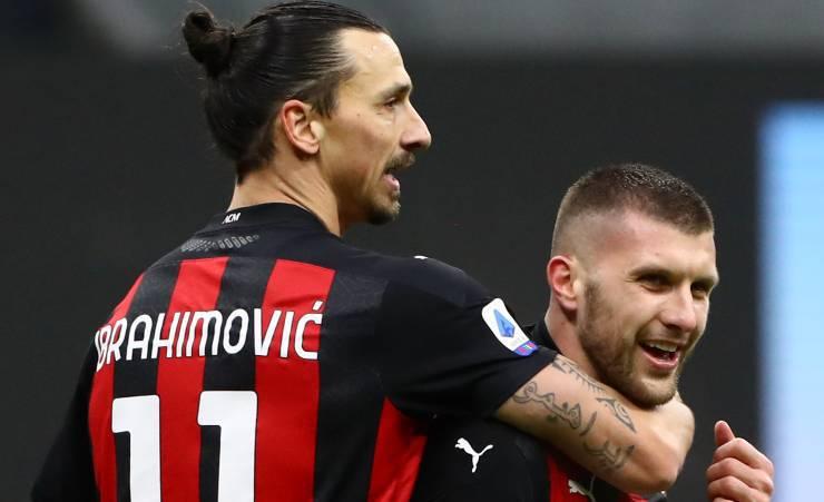 Ante Rebic Zlatan Ibrahimovic
