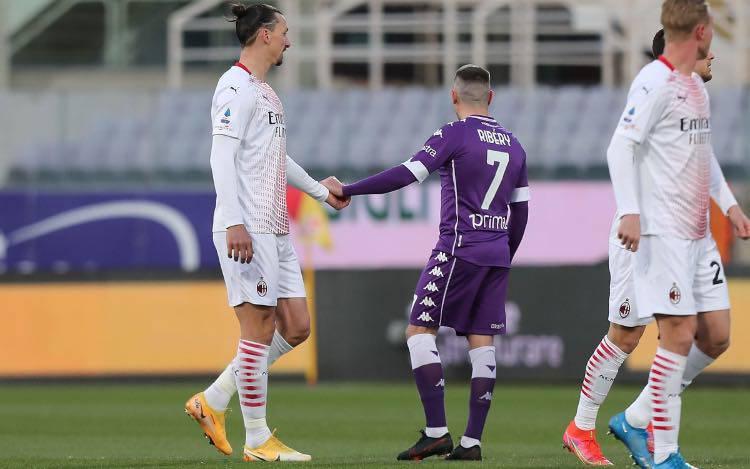 Ibrahimovic e Ribery, Fiorentina-Milan