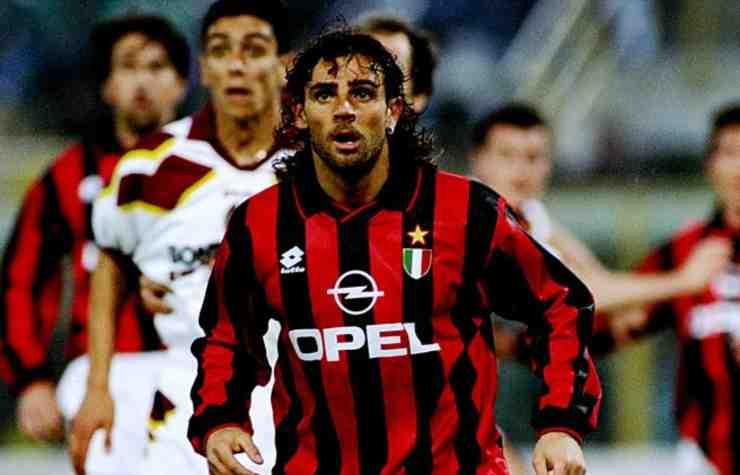 Marco Simone ai tempi del Milan