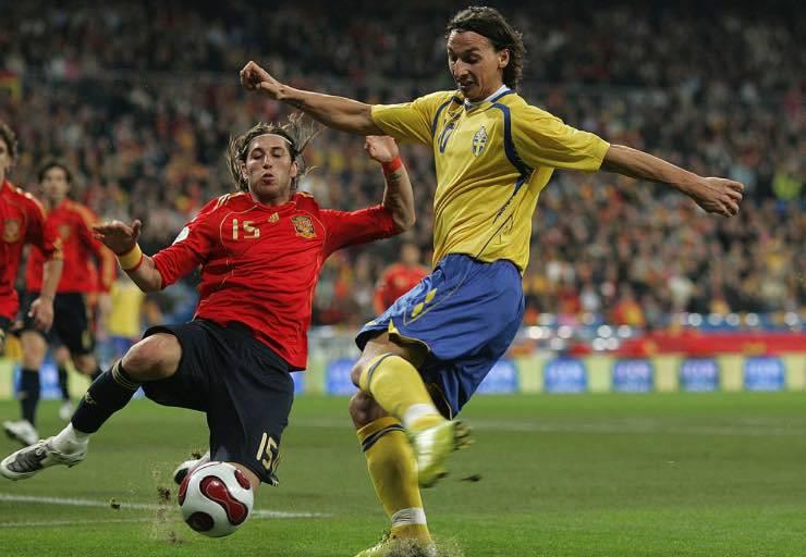 Sergio Ramos Zlatan Ibrahimovic