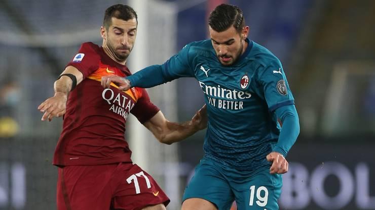 Theo Hernandez Mkhitaryan Roma Milan