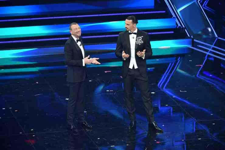 Zlatan Ibrahimovic a Sanremo con Amadeus